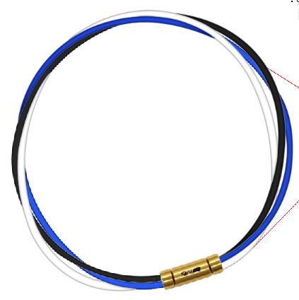 セブ SEV スポーツネックレス ルーパータイプ3G ブラック/ブルー/ホワイト