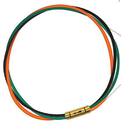 セブ SEV スポーツネックレス ルーパータイプ3G ブラック/グリーン/オレンジ