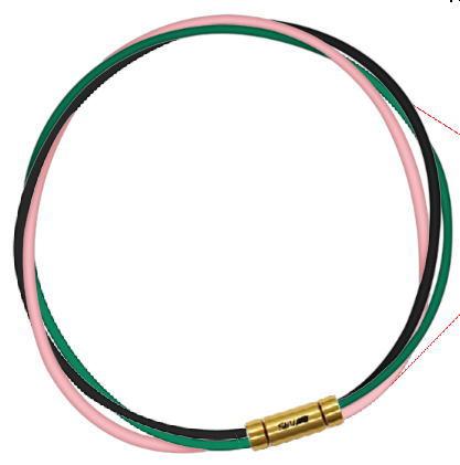 セブ SEV スポーツネックレス ルーパータイプ3G ブラック/グリーン/ピンク
