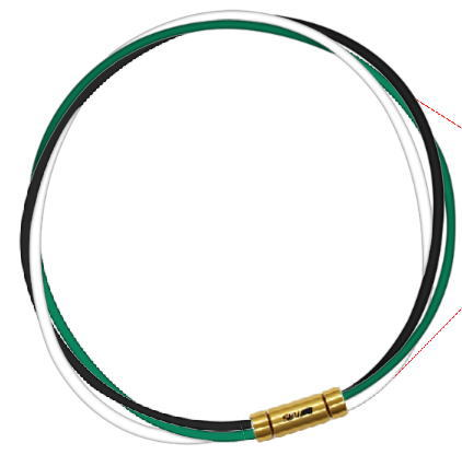 セブ SEV スポーツネックレス ルーパータイプ3G ブラック/グリーン/ホワイト