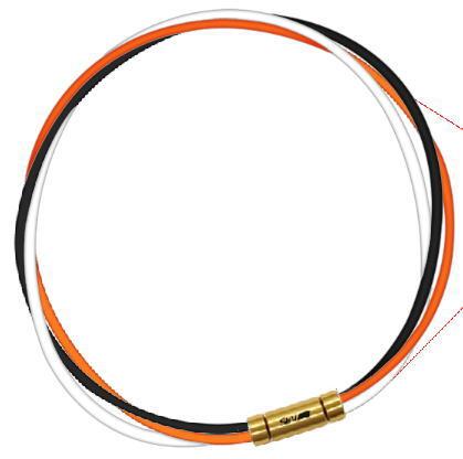 セブ SEV スポーツネックレス ルーパータイプ3G ブラック/オレンジ/ホワイト
