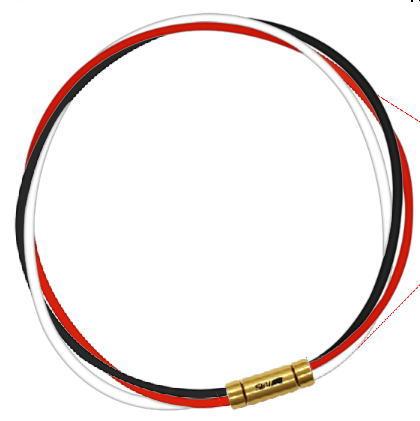 セブ SEV スポーツネックレス ルーパータイプ3G ブラック/レッド/ホワイト