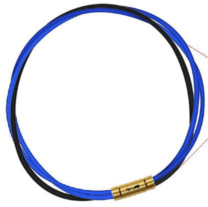 セブ SEV スポーツネックレス ルーパータイプ3G ブルー2本/ブラック