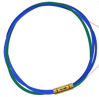 セブ SEV スポーツネックレス ブルー2本/グリーン ルーパータイプ3G