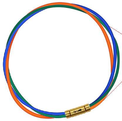 セブ SEV スポーツネックレス ルーパータイプ3G ブルー/グリーン/オレンジ