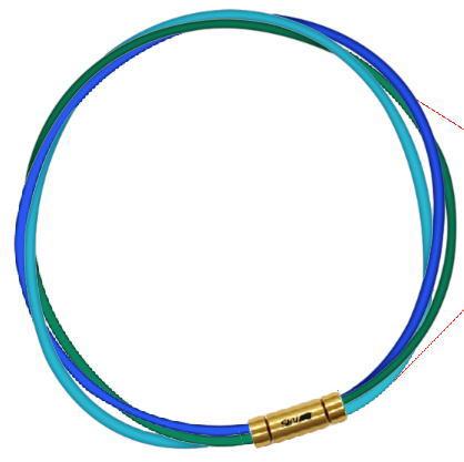 セブ SEV スポーツネックレス ルーパータイプ3G ブルー/グリーン/ライトブルー