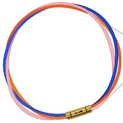 セブ SEV スポーツネックレス ルーパータイプ3G ブルー/オレンジ/ピンク
