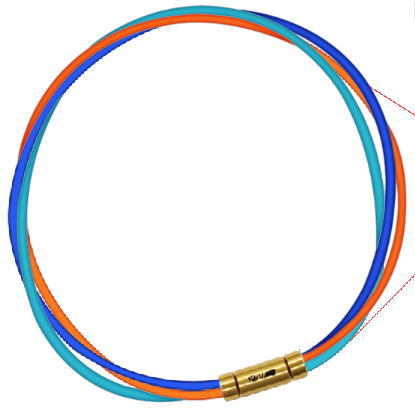 セブ SEV スポーツネックレス ルーパータイプ3G ブルー/オレンジ/ライトブルー
