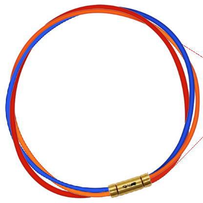 セブ SEV スポーツネックレス ルーパータイプ3G ブルー/オレンジ/レッド