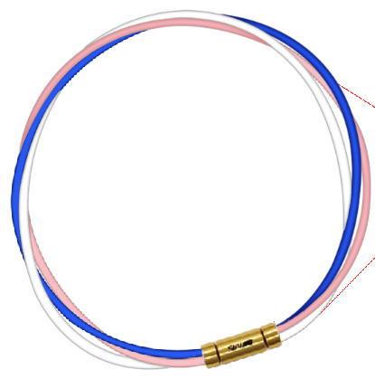 セブ SEV スポーツネックレス ルーパータイプ3G ブルー/ピンク/ホワイト
