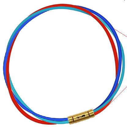 セブ SEV スポーツネックレス ルーパータイプ3G ブルー/ライトブルー/レッド