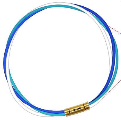 セブ SEV スポーツネックレス ルーパータイプ3G ブルー/ライトブルー/ホワイト