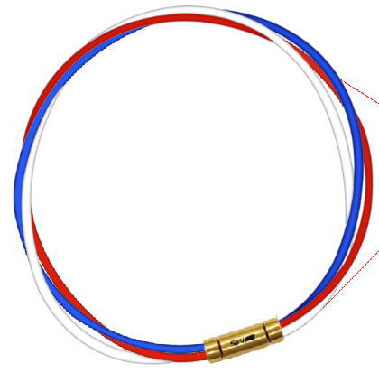 セブ SEV スポーツネックレス ルーパータイプ3G ブルー/レッド/ホワイト