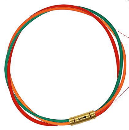 セブ SEV スポーツネックレス ルーパータイプ3G グリーン/オレンジ/レッド
