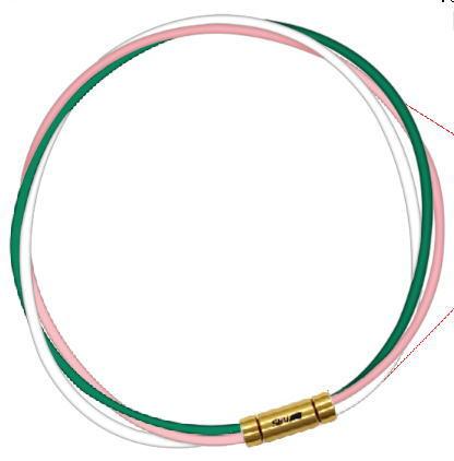セブ SEV スポーツネックレス ルーパータイプ3G グリーン/ピンク/ホワイト