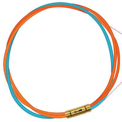 セブ SEV スポーツネックレス ルーパータイプ3G オレンジ2本/ライトブルー