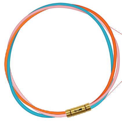 セブ SEV スポーツネックレス ルーパータイプ3G オレンジ/ピンク/ライトブルー