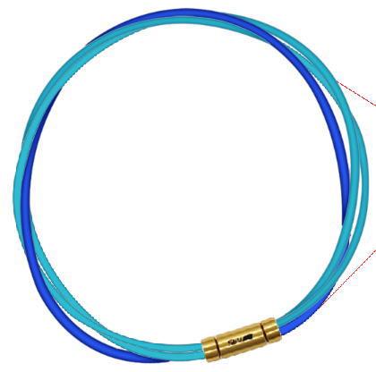 セブ SEV スポーツネックレス ルーパータイプ3G ライトブルー2本/ブルー