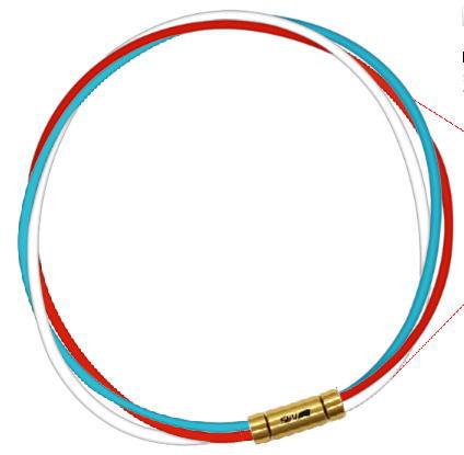 セブ ルーパータイプ3G ライトブルー/レッド/ホワイト スポーツネックレス SEV