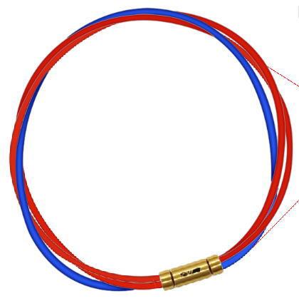セブ SEV スポーツネックレス ルーパータイプ3G レッド2本/ブルー
