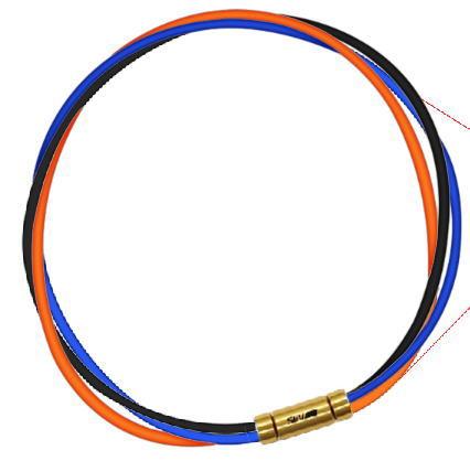 セブ SEV スポーツネックレス ルーパータイプ3G 納期2週間 54cm ブラック/ブルー/オレンジ
