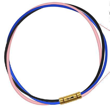 セブ SEV スポーツネックレス ルーパータイプ3G 54cm ブラック/ブルー/ピンク