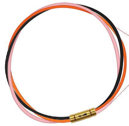 セブ SEV スポーツネックレス ルーパータイプ3G 54cm ブラック/オレンジ/ピンク