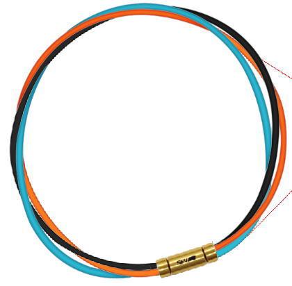 セブ SEV スポーツネックレス ルーパータイプ3G 54cm ブラック/オレンジ/ライトブルー
