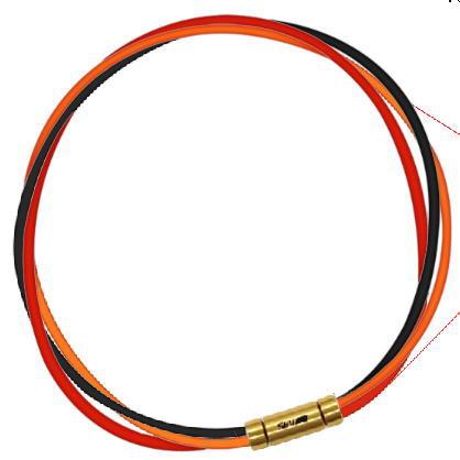 セブ SEV スポーツネックレス ルーパータイプ3G 54cm ブラック/オレンジ/レッド