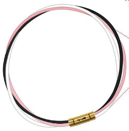 セブ SEV スポーツネックレス ルーパータイプ3G 54cm ブラック/ピンク/ホワイト