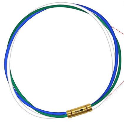 【納期約3-4週間】セブ SEV スポーツネックレス ルーパータイプ3G 54cm ブルー/グリーン/ホワイト