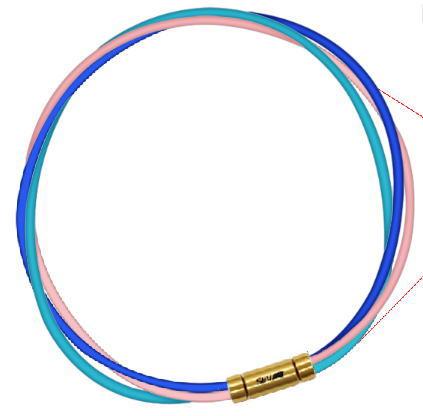 【納期約3-4週間】セブ SEV スポーツネックレス ルーパータイプ3G 54cm ブルー/ピンク/ライトブルー