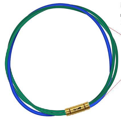 セブ SEV スポーツネックレス ルーパータイプ3G 54cm グリーン2本/ブルー