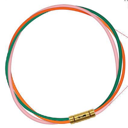 セブ SEV スポーツネックレス ルーパータイプ3G 54cm グリーン/オレンジ/ピンク