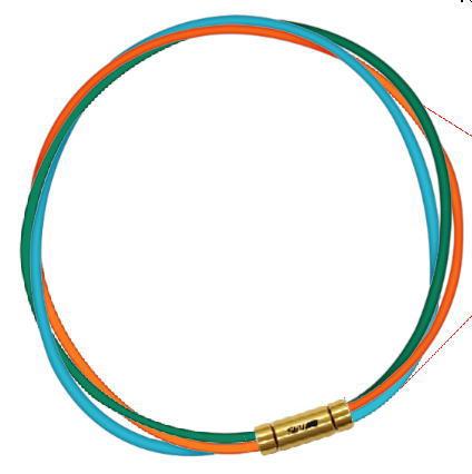 【納期約3-4週間】セブ SEV スポーツネックレス ルーパータイプ3G 54cm グリーン/オレンジ/ライトブルー