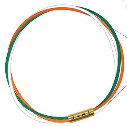 セブ SEV スポーツネックレス ルーパータイプ3G 54cm グリーン/オレンジ/ホワイト