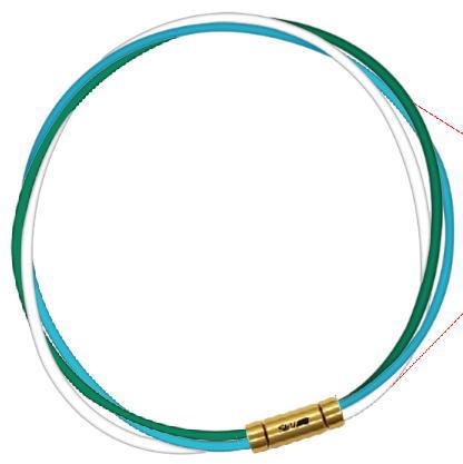 セブ SEV スポーツネックレス ルーパータイプ3G 54cm グリーン/ライトブルー/ホワイト