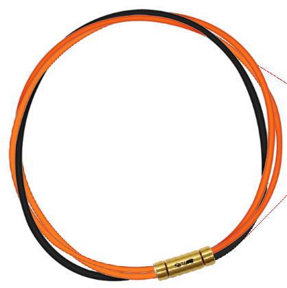 セブ SEV スポーツネックレス ルーパータイプ3G 54cm オレンジ2本/ブラック