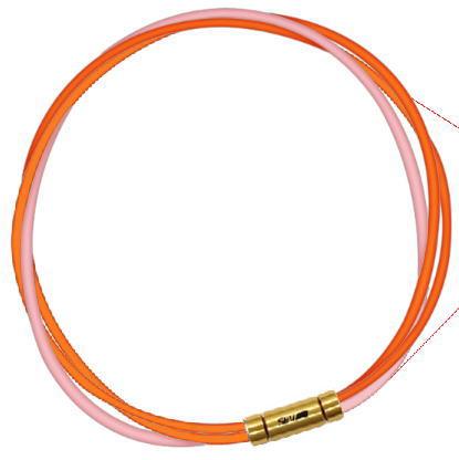 セブ SEV スポーツネックレス ルーパータイプ3G 54cm オレンジ2本/ピンク