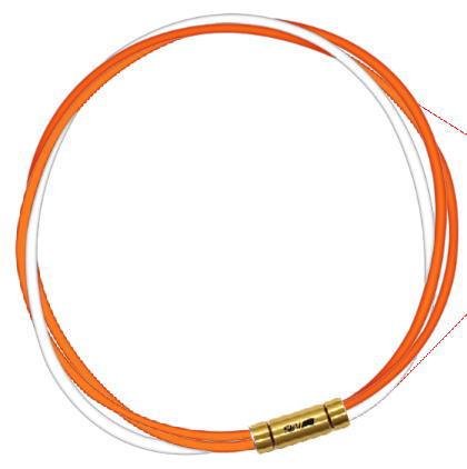 セブ SEV スポーツネックレス ルーパータイプ3G 54cm オレンジ2本/ホワイト