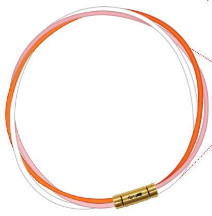 セブ SEV スポーツネックレス ルーパータイプ3G 54cm オレンジ/ピンク/ホワイト