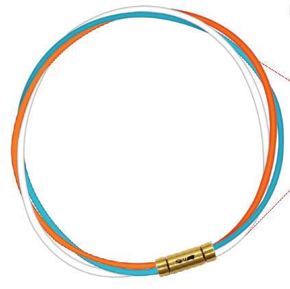 オレンジ/ライトブルー/ホワイト SEV 54cm スポーツネックレス セブ ルーパータイプ3G