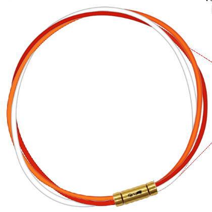 セブ SEV スポーツネックレス ルーパータイプ3G 54cm オレンジ/レッド/ホワイト