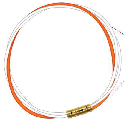 セブ SEV スポーツネックレス ルーパータイプ3G 54cm ホワイト2本/オレンジ