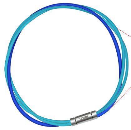 セブ SEV スポーツネックレス ルーパータイプ3M 納期2週間 ライトブルー2本/ブルー