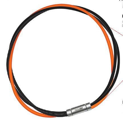 セブ SEV スポーツネックレス ルーパータイプ3M 納期2週間 54cm ブラック2本/オレンジ