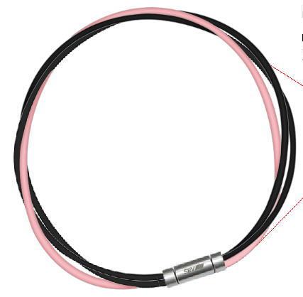 セブ SEV スポーツネックレス ルーパータイプ3M 納期2週間 54cm ブラック2本/ピンク