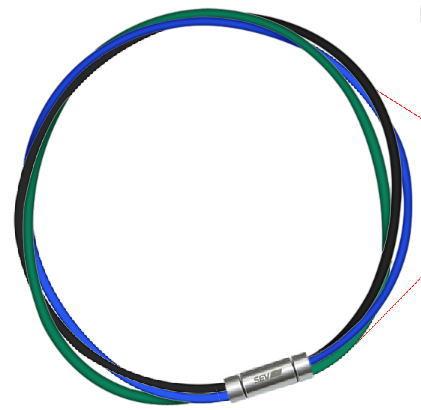 セブ SEV スポーツネックレス ルーパータイプ3M 納期2週間 54cm ブラック/ブルー/グリーン