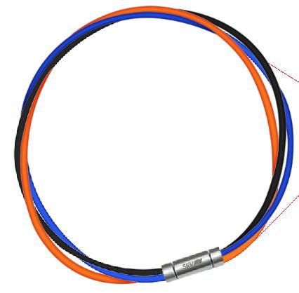セブ SEV スポーツネックレス ルーパータイプ3M 納期2週間 54cm ブラック/ブルー/オレンジ