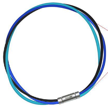 セブ SEV スポーツネックレス ルーパータイプ3M 納期2週間 54cm ブラック/ブルー/ライトブルー
